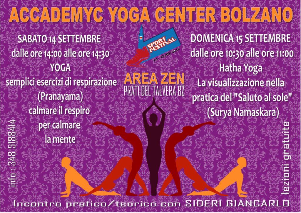 festival dello sport con accademyc yoga center